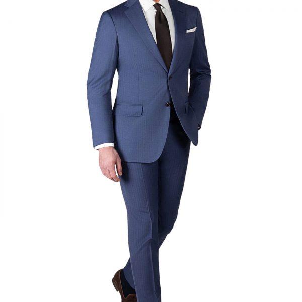 blue herringbone suit hero@2x 1 600x600 Chemise en Se Promenant Sur Mesure Dès 46€