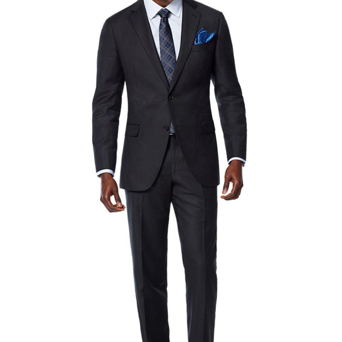 charcoal herringbone custom suit front@2x 1 1200x1200 Smoking en Déambulant Mesure