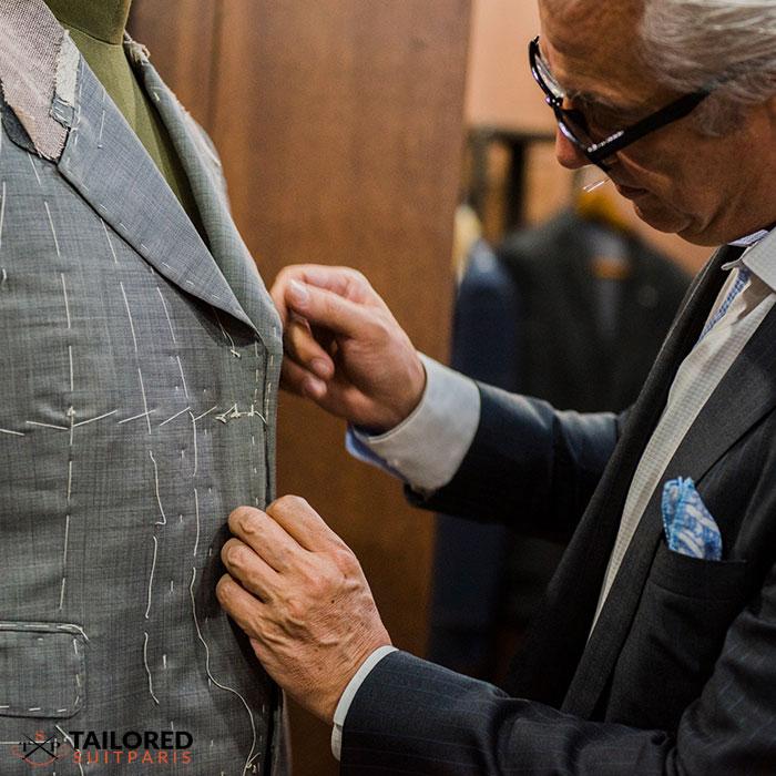 Costume de mariage 100% fait main
